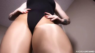 leotard swimsut milf teasing viewers
