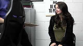 Perverted teen got fucked in the office