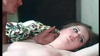 Big tittied but too pale nympho spreads legs during missionary fuck