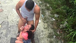 Brutal cock and brazil piss slave Car problems in the middle