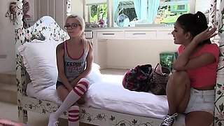 Four naughty hot bestfriends plays an oil wrestling on one