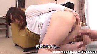 Jun Sena Asian babe is an anal slave mistress