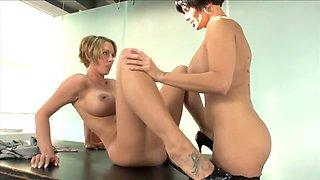 Best pornstars Destiny Porter and Shay Fox in amazing blowjob, lingerie xxx video