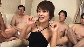 Sakura Sakurada has hairy pussy licked and fucked in big