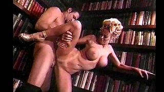 Quickie fucking in the library with horny blonde wife Jenna Jameson