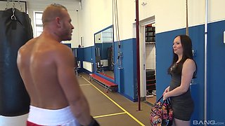 Shirly Wild gets talked into pleasing a friend after the workout