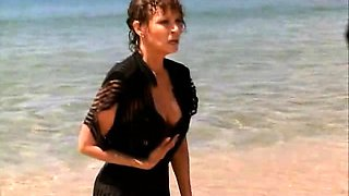 Raquel Welch first seen wearing some sexy lingerie. Then