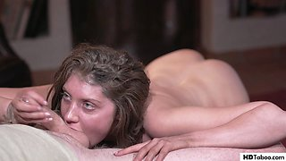 Elena Koshka offers her pussy for some food
