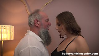 Natural tits Antonio doggystyle screwed in bed porn