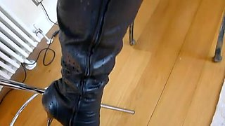 Mature in thigh boots glory hole smoke