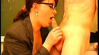 Horny teacher seduces a young stud to drill her aching pussy