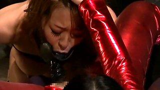 Hottest Japanese girl Akari Minamino in Horny Lesbian/Rezubian, Strapon JAV movie
