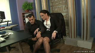 Stealing Secretary Andy Brown gets the Punishment She Deserves