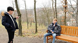 Blond boy Angel Rivers is far too tempting a sight for a