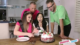 18 Year Old Step-daughter Sex Orgy With Judy Jolie And Athena Faris