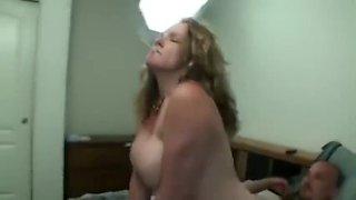 Big breasted stepmom smoking sex
