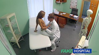 Spying on sexy youthful honey having specific treatment from the doctor pov creampie