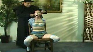 Cruel breast bondage