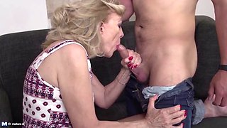 Taboo home sex with granny mom and boys