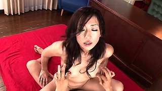 Asian slut sucking and draining his balls from sperm