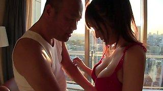 Romantic kissing and fucking with delicious Japanese Moa Hoshizora